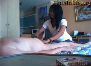 Asian massage parlor hidden cam