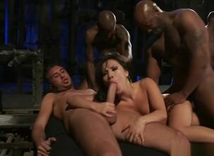 Asian wife gangbang