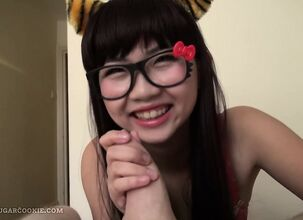 Asian pov handjob